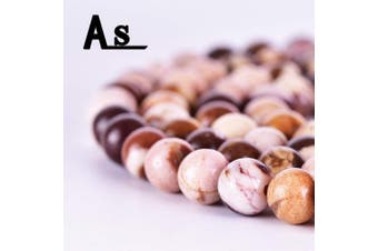"""(6mm, Moonkaite Jasper) - Asingeloo Natural 6mm Moonkaite Jasper Stone Beads Round Loose Spacer Beads for Jewellery Making Smooth Stone Beads Crystal Energy Stone Healing Power 15"""" a Strand (60~63pcs)"""