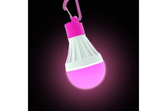 (Pink) - Tent Light - Instant Hands Free Multi Purpose Light - Clip On