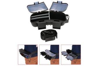 Redgirl Portable Durable Waist Fly Fishing Box Multifunction Fishing Tackle Hook Swivel Lure Storage Box with Waist Belt