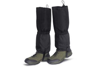 (Large, BLACK) - Unigear Leg Gaiters Waterproof Boot Gaiters with Zipper for Hiking Hunting Climbing Snowing for Men and Women