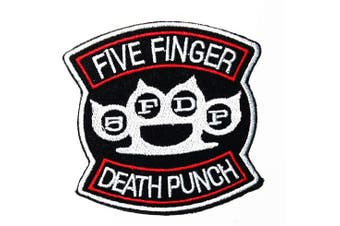 Music F Death Punch Heavy Metal Groove Metal Thrash Metal Alternative Metal Hard Rock Band Music Logo Patch Embroidered Sew Iron On Patches Badge Bags Hat Jeans Shoes T-Shirt Applique