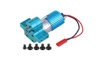 (Blue) - RC Gearbox, Metal Gear Box Speed Change With 370 Brush Motor for WPL 1633 RC Car(Blue)