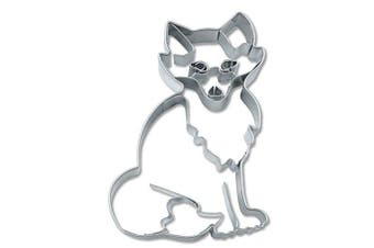 (7 cm) - Staedter Embossing Fox Cookie Cutter, 7 cm, Stainless Steel, Silver