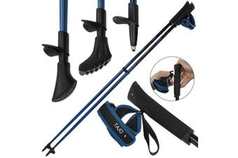 (115 cm) - ALPIDEX Nordic Walking Poles fixed length pole made of carbon in varying lengths ultralight best pendulum behaviour click-out handstraps rubber buffer and pad holder