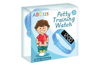 (Blue) - ABC123 Potty Training Watch - Baby Reminder Water Resistant Timer for Toilet Training Kids & Toddler (Blue)
