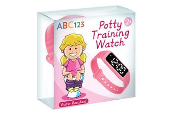 (Pink) - ABC123 Potty Training Watch - Baby Reminder Water Resistant Timer for Toilet Training Kids & Toddler (Pink)