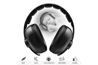 (Black) - BBTKCARE Baby Headphones Noise Cancelling Headphones for Babies for 3 Months to 2 Years (Black)