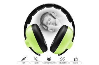 (Green) - BBTKCARE Baby Ear Protection Noise Cancelling Headphones for Babies for 3 Months to 2 Years (Green)
