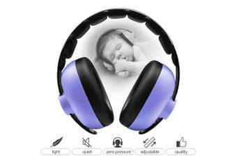 (Purple) - BBTKCARE Baby Ear Protection Noise Cancelling Headphones for Babies for 3 Months to 2 Years (Purple)