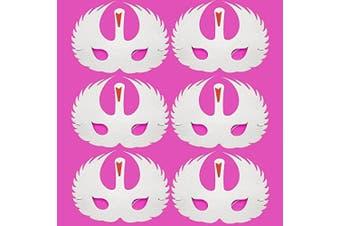 6 Foam White Swan Masks - Fancy Dress F- Children & Grown Ups by Blue Frog Toys