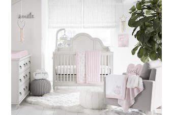 (Pink) - Wendy Bellissimo Super Soft Plush Baby Blanket - Medallion in Pink/White