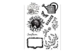 Garden Sunflowers Leaves Stamp Rubber Clear Stamp/Seal Scrapbook/Photo Album Decorative Card Making Clear Stamps