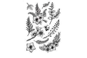 DIY Beautiful Flowers Leaves Floral Stamp Rubber Clear Stamp/Seal Scrapbook/Photo Album Decorative Card Making Clear Stamps