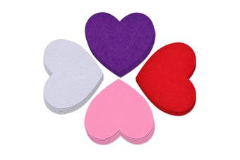 Coopay 36 Pieces Valentine's Day Large Foam Hearts Craft Heart Décor for Valentine Wedding Party Decorations Ornaments, 15cm , White, Red, Pink, Purple