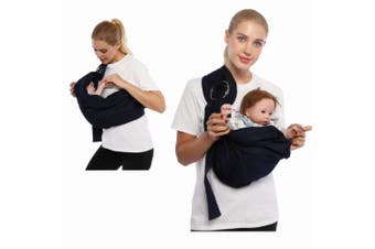 (Gray) - Cuby Baby Sling Wrap Carrier from Newborns to Todder Child (Grey)