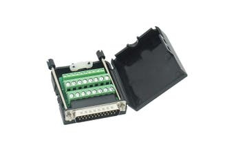 (Male Connector, DB25 With case) - Copapa Connector DB25 D-SUB Male Adapter 25-pin Port Adapter to Terminal Connector Signal Module With case(Male Connector, DB25 With case)
