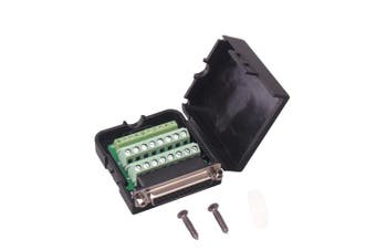 (Female Connector, DB25 With case) - Copapa DB9 9-Pin Male Adapter RS232 Serial to 3-Position Terminal Connector with Case (Female Connector, DB25 With case)