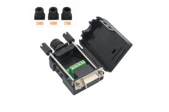 (Female Connector, DB9 9P to 3-Position With case) - Copapa DB9 9-Pin Male Adapter RS232 Serial to 3-Position Terminal Connector with Case (Female Connector, DB9 9P to 3-Position With case)