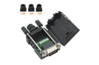 (Male Connector, DB9 9P to 3-Position With case) - Copapa DB9 9-Pin Male Adapter RS232 Serial to 3-Position Terminal Connector with Case (Male Connector, DB9 9P to 3-Position With case)