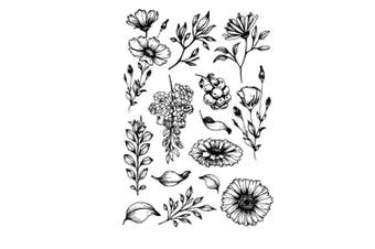DIY Daisy Flowers Leaves Thanks Stamp Rubber Clear Stamp/Seal Scrapbook/Photo Album Decorative Card Making Clear Stamps