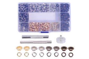 400 Sets Grommet Tool Kit 0.6cm , Grommet Eyelet Setting Tool with Storage Box