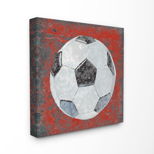The Kids Room by Stupell Grunge Sports Equipment Soccer Oversized Stretched Canvas Wall Art, 24 x 1.5 x 24 Merchandise