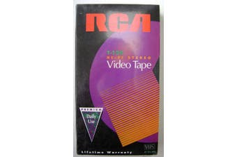 RCA T-120 Hi-Fi Stereo Premium VHS Video Cassette Tape - 6 hours Durable and Consistent Performance