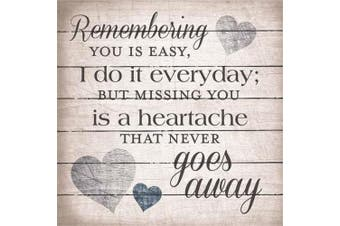 Artistic Reflections LA1048 27cm x 27cm . Remembering You Is Easy Wood Pallet Art Sign
