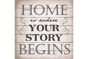 Artistic Reflections LA1043 27cm x 27cm . Home Is Where Your Story Begins Wood Pallet Art Sign