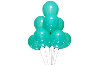 (12 Inch / 30 cm, Teal) - AZOWA 100 Pcs Teal Blue Balloons 30cm Latex Party Balloons for Wedding Engagement Baby Shower Birthday Party Decorations