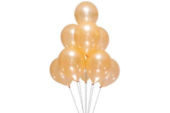 (12 Inch / 30 cm, Light Orange) - AZOWA Light Orange Champagne Balloons 30cm Pack of 100 Latex Balloon