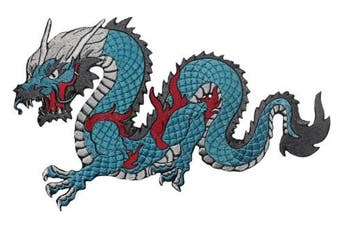 Dragon Patch Iron on Embroidered Applique for Clothes Jeans Jackets (Large, 4)