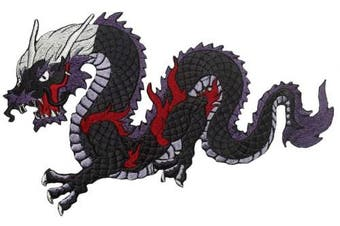 Dragon Patch Iron on Embroidered Applique for Clothes Jeans Jackets (Large, 7)