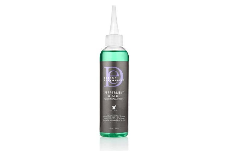 Design Essentials Peppermint & Aloe Soothing Scalp & Skin Tonic for Instant Itch Relief from Scalp Irritation-120ml