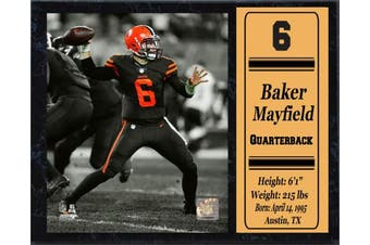 Encore Baker Mayfield Cleveland Browns Stat Plaque