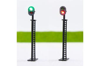 JTD01 5pcs Model Railway Block Signals Green/Red HO or OO Scale 8.5cm 12V Led New