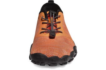 (Men 9 D(M), TF-BK40-ORG.) - TSLA Men's Trail Running Minimalist Barefoot Shoe BK30 / BK40