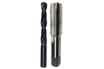 """(0.6cm -20, 1/4""""-20 Tap - #7 Drill) - Drill America 0.6cm -20 Tap and #7 Drill Bit Kit, POU Series"""