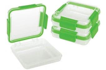 (Sandwich To-Go SET of 3, Green) - SnapLock by Progressive SnapLock Sandwich Container, One Size, Green