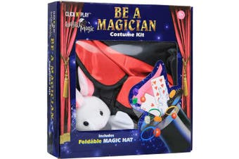 (Dress up set) - Click N' Play Magician Pretend Play Dress Up Set With Accessories, Hat and Rabbit Magic Tricks
