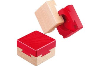 Blulu Impossible Dovetail Box Mini 3D Wooden Puzzle Box Gift Jewelery Box Intelligence Games Puzzle Toy