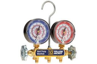 Yellow Jacket 42052 Heat Pump Manifold, R-410A, degrees F with 7.6cm - 0.3cm gauges