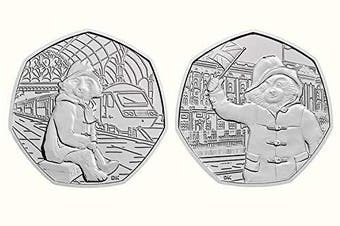 50p 2018 Paddington Bear at The Station AND at The Palace coins- Uncirculated - Taken from sealed Royal Mint bags