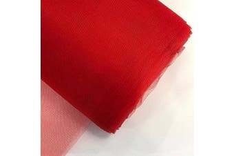 (140cm  x 40 yards, Red) - Craft And Party, 140cm by 40 Yards (37m) Fabric Tulle Bolt for Wedding and Decoration (Red)
