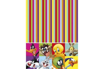 (Table Cover) - Unique Party 72167 - Looney Tunes Plastic Tablecloth, 1.8m x 1.2m