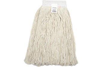 470ml Cotton Cut-End Mop Head, 4Ply, Wide Band, White