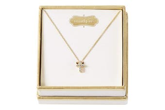 Mud Pie Pave Cross Necklace Christening Gold, Gold