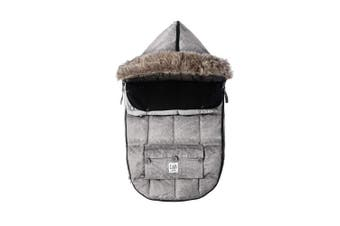 (Small, Heather Grey) - 7 A.M. Enfant Le Sac Igloo, Footmuff Safe for Car Seat and Stroller
