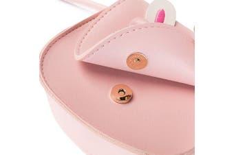 (Pink) - Aimeio Little Girls' Crossbody Purse Cute Bunny Shoulder Bag Satchel for Toddlers
