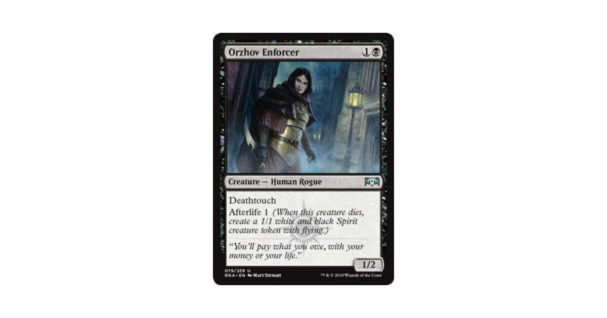 Magic The Gathering Orzhov Enforcer Ravnica Allegiance Kogan Com Whenever you gain life you may pay {w/b}, if you do, orzhov enforcer gains +3/+0 until end of turn. kogan australia